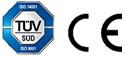 Logos CE TUV Aquavia Spa